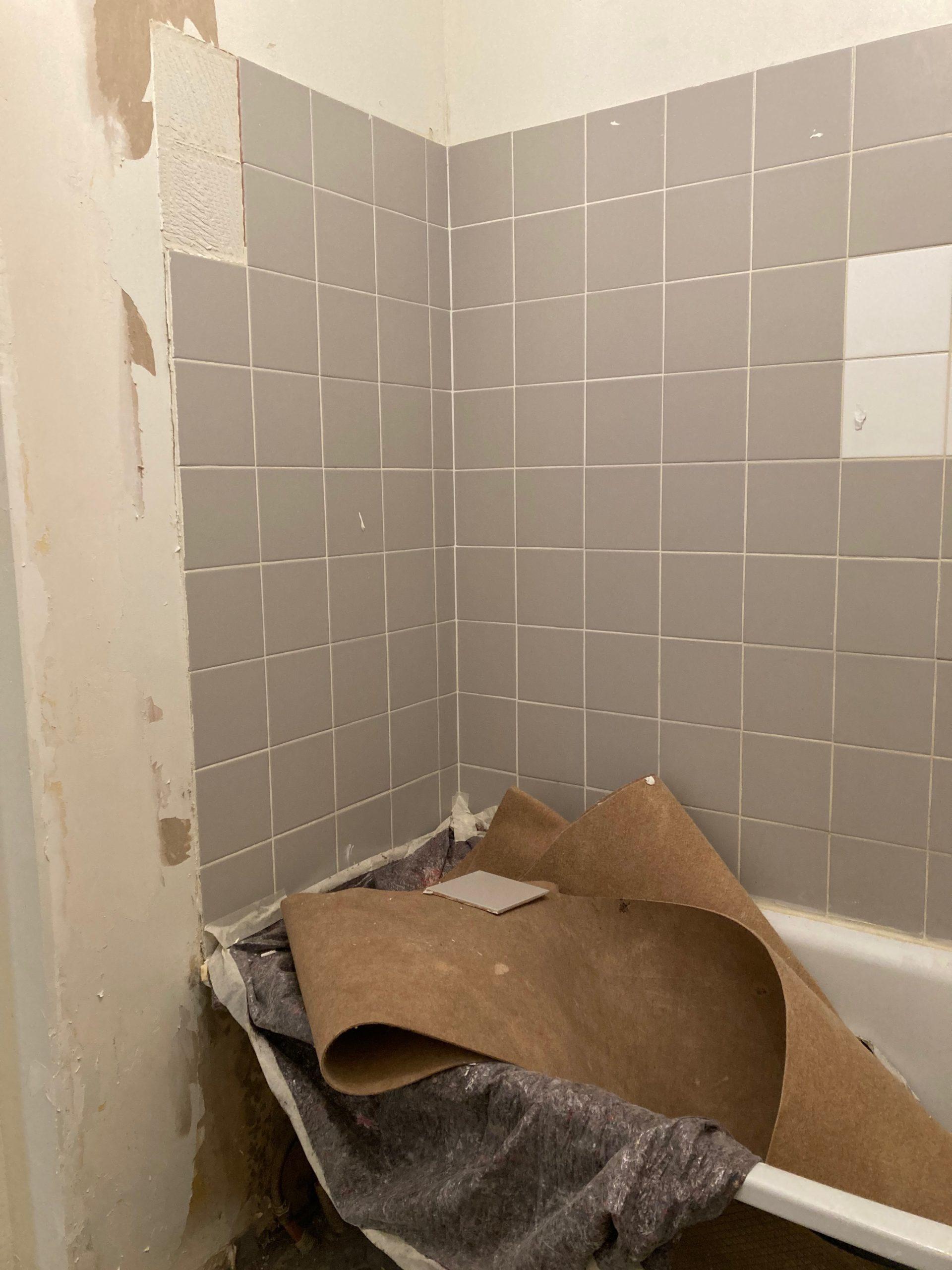 démolition salle de bain